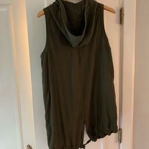 Express Jackets & Coats - Express olive green hooded vest. Size XS